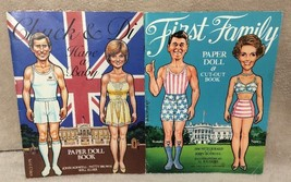 Chuck & Di First Family Paper Doll Books Prince... - $19.79