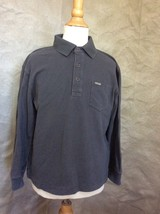 Faconnable Boys Long Sleeved Polo Golf Shirt 6 5 Charcoal Brown - $19.23
