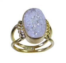 charming Druzy Gold Plated multi Ring genuine indian US gift - $7.74