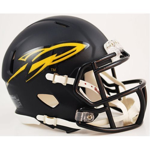 TOLEDO ROCKETS NCAA Riddell Revolution SPEED Mini Football Helmet (MATTE NAVY...
