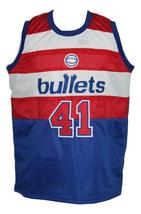 Wes Unseld #41 Baltimore Washington Retro Basketball Jersey New Blue Any Size image 4