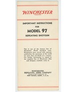 Winchester Model 97 repeating shotgun instruction brochure vintage original - $35.00
