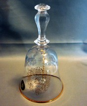 "House Of Goebel Crystal Happy Birthday Bell W/Sticker 6""  - $17.99"