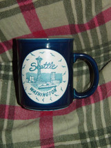 Seattle Washington Blue Coffee Cup - $9.00