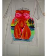 Vilero 2004 Puuta Cauo R.P White Swimsuit T-Shirt Size Large - $10.00