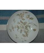 """Meito China Small Dessert Bowl 5 1/2"""" With Gold Trim Yellow Tone Flowers - $14.00"""
