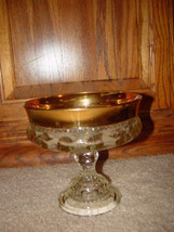 Kings Crown Thumbprint Compote Candy Dish Pedestal Indiana Glass - $45.00
