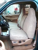 1997-1999 Ford F150 High Back 40/60 Split Seat Custom Fit Seat Covers Tan - $180.00+