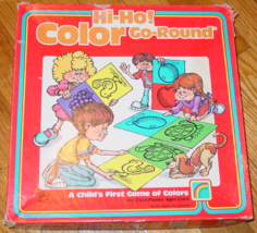 HI HO COLOR GO ROUND CHILDS FIRST GAME OF COLORS 1987 WESTERN PUBLISHING... - $20.00