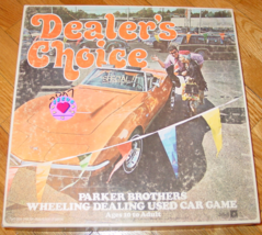 DEALERS CHOICE WHEELING DEALING USED CAR GAME 1972 PARKER BROTHERS COMPL... - $25.00
