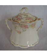 Homer Laughlin Hudson Small Pink Roses Covered Sugar Bowl - $24.99