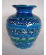 Vintage Bitossi Italian Pottery Rimini Blu Vase... - $64.95