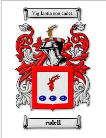 CADELL Coat of Arms Surname Print - Genealogy Bonanza