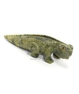 Two-Tone Carved Serpentine Stone Iguana Sculpture Figurine - Peru - ₹411.98 INR