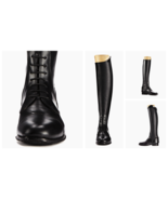 Leather Riding Boots high quality Leather Handmade custom riding boots - $386.00