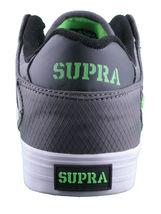 Supra Homme Vaider Bas Décoloré Gris/Blanc Nylon Skateboard Shoes Basket S36042 image 3