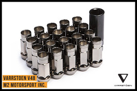 VARRSTOEN VT48 LUG NUTS 12X1.5MM EXTENDED Black Chrome - $59.99