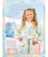 W171 Crochet PATTERN ONLY Soft and Sweet Childs Bathrobe & Teddy Bear Pa... - $7.50