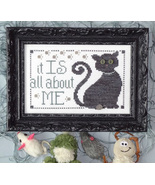 All About Me MBT138 cat cross stitch chart My Big Toe Designs - $8.00