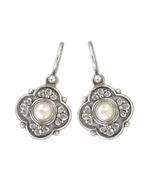 Gerochristo 1181 -  Sterling Silver & Pearls Medieval-Byzantine Earrings  - $150.00