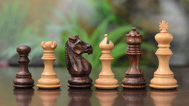 Wooden Handcarved Weighted Staunton Chess Set Shesham Wood 4 Queens M0093 - $137.99