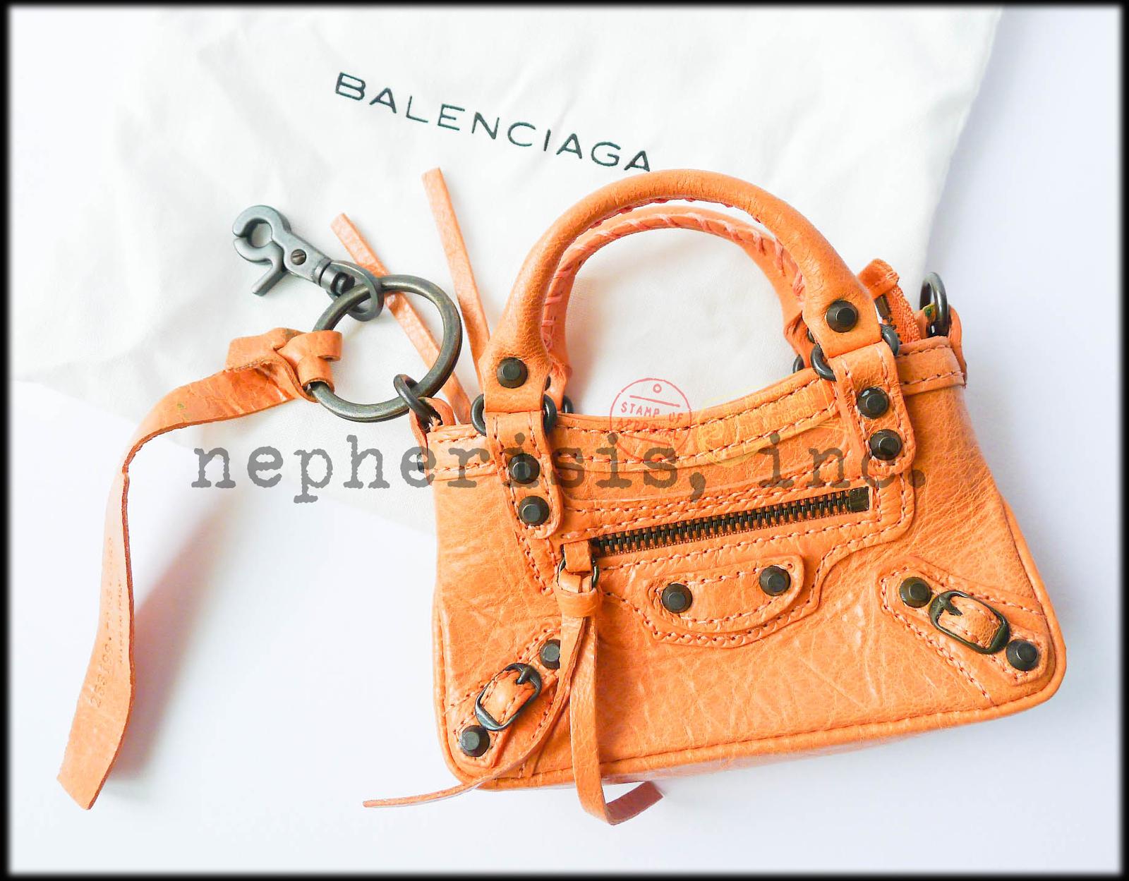 AUTH NEW 2012 Balenciaga MINI MINI FIRST MMF Keychain or Bag Charm ROSE BLUSH