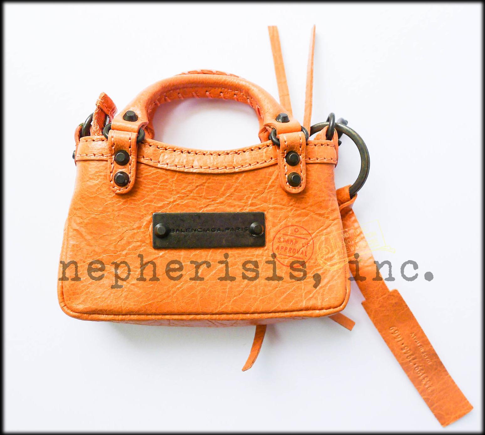 AUTH NEW 2012 Balenciaga MINI MINI FIRST MMF Keychain or Bag Charm ROSE BLUSH image 3