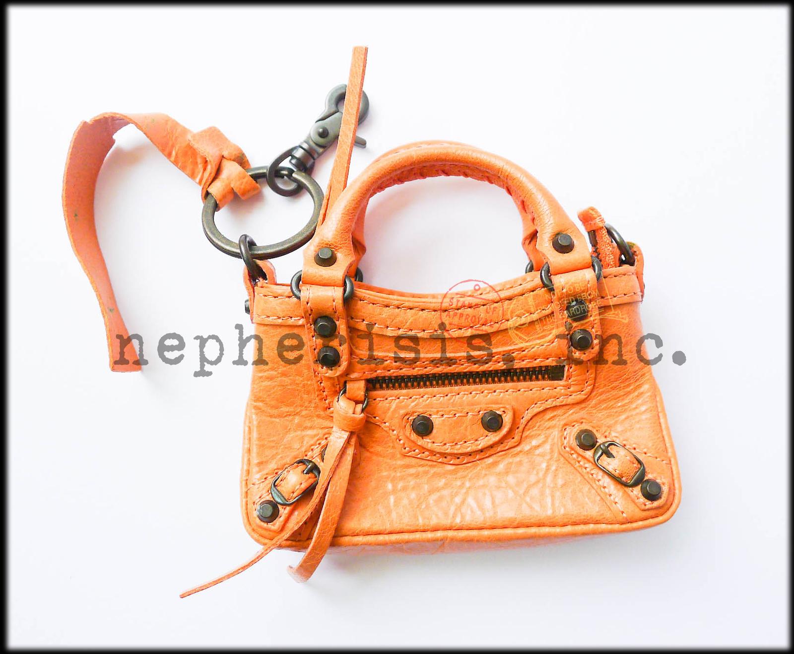AUTH NEW 2012 Balenciaga MINI MINI FIRST MMF Keychain or Bag Charm ROSE BLUSH image 6