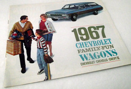 1967 Chevrolet Chevy Sales Brochure Station Wagon Chevelle Dealership Vi... - $33.83