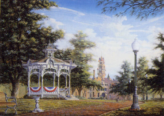 City Park Open Edition Print By Randy Souders, Signed 12x16, New