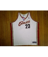 Authentic Reebok Cleveland Cavaliers LeBron James-White/Burgundy Home Je... - $149.99
