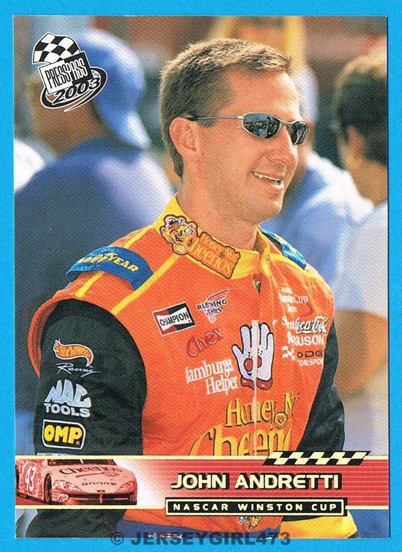 John Andretti 2003 Press Pass NASCAR Racing Gold Foil Parallel Insert Card #P1