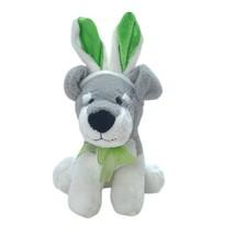 "Dan Dee Collectors Choice 9"" Gray White Plush Puppy Dog Bunny Ears - $9.90"