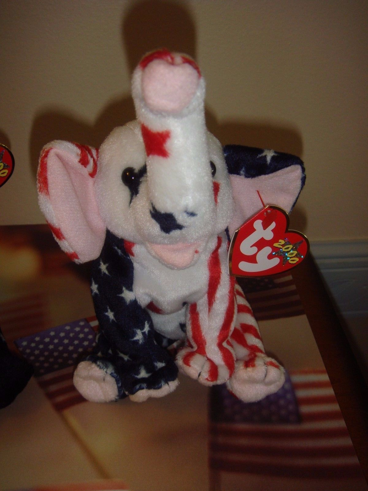 Ty Lefty & Righty 2000 Beanie Baby Patriotic