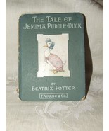 1908+ THE TALE OF JEMIMA PUDDLE-DUCK Beatrix Potter Early American Editi... - $85.00