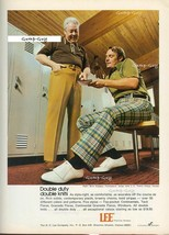 Vintage 1972 Print Ad Lee Doubleknit Pants Golf Attire Double Duty Knit ... - $4.49