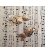 Fish Gold Fill Hooks Gold Plate Jointed Dangle ... - $20.00