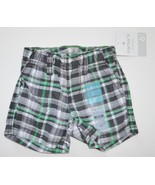 NEW Carter's Baby's Black & Green Checkered Shorts w/ pockets. 6 months.... - $4.00