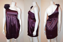 NWOT Purple Short Dress by Charlotte Russe. Has flowers on one shoulder. Small - $20.00