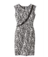 NEW SPIEGEL NEWPORT NEWS Size 6 Snake Print Dress Leather Zipper Accent NWT - $32.50