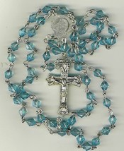 Rosary - Plastic Blue Diamond Beads - L43-725-12