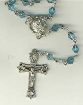 Rosary - Plastic Blue Diamond Beads - L43-725-12 image 2