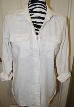 Women's Calvin Klein Jeans White cotton button-down. Size: X-Small. NWT - $28.60