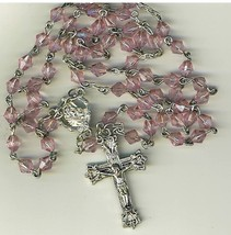 Rosary - Plastic Pink Diamond Beads - L43-725-03 - $14.99