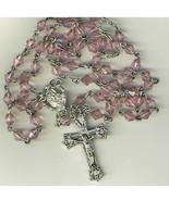 Rosary - Plastic Pink Diamond Beads - L43-725-03 - $14.99