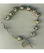 Bracelet Rosary - Metal Round Bead - $13.99