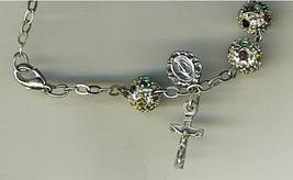Bracelet Rosary - Metal Round Bead image 2