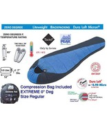 NEW 1 EXTREME 0* DEGREE BACKPACKING MUMMY BAG ONLY 3.1 LBS FITS IN BAG C... - $79.95