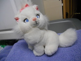 "MARIE PLUSH WHITE ARISTOCATS 7"" TALL  CUTE CAT - $5.40"