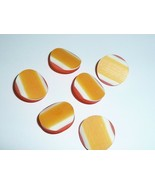 "Orange Tri-Color Vintage Plastic Shank Buttons 1"" Diam. Made in Holland ... - $5.44"
